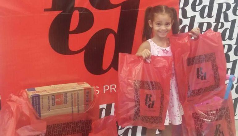 Conheça a ganhadora da promoção do Dia das Crianças da Lojas Red