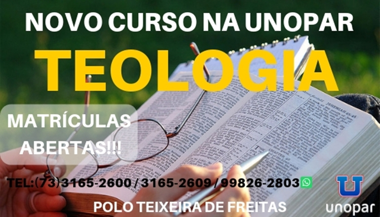 UNOPAR agora tem Teologia; novo curso terá duração de 4 anos