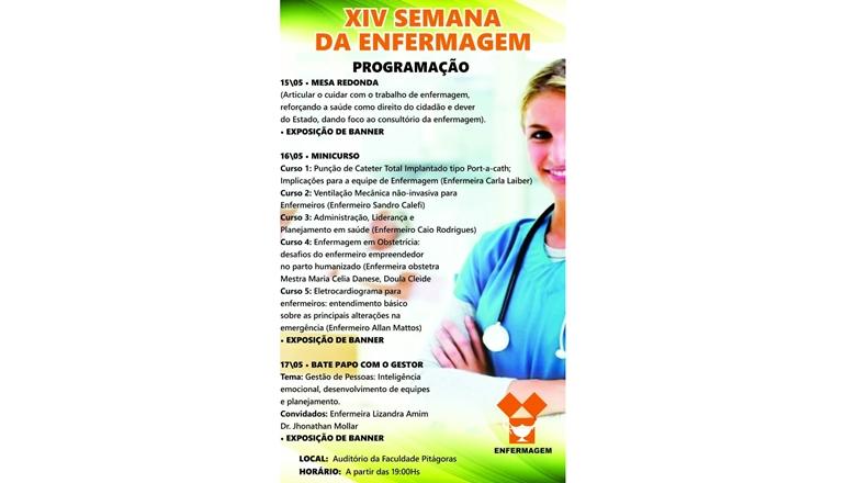 Confira a programação da Semana da Enfermagem 2018 e participe