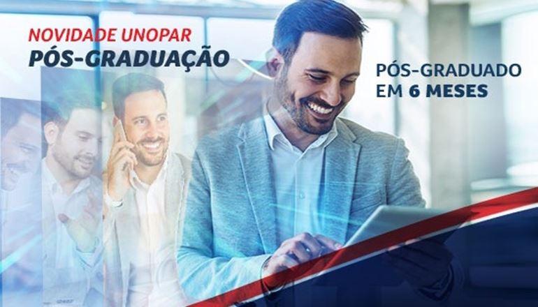 Novidades na UNOPAR: venha conhecer os novos cursos de Pós-Graduação; economize tempo e impulsione a sua carreira!