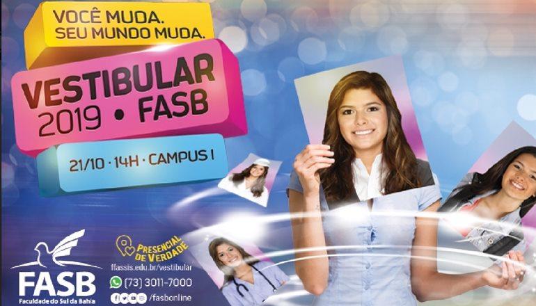 #Novafasb: Prova do Vestibular 2019.1 da FASB será neste domingo; faça já a sua inscrição!