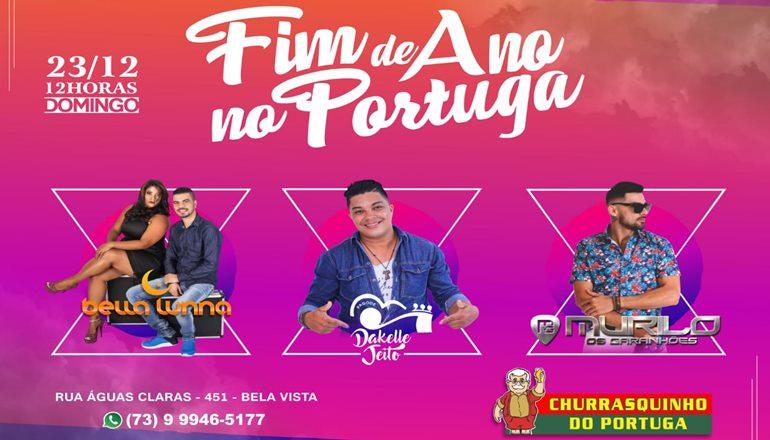 Churrasquinho do Portuga fará uma grande festa de fim de ano com três atrações confirmadas; adquira já a sua pulseira!