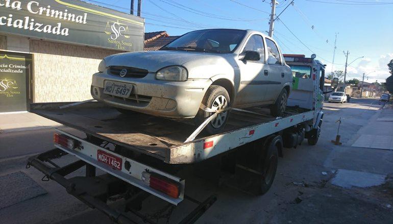 CAEMA recupera veículo roubado e abandonado em estrada próximo ao distrito de Santo Antônio