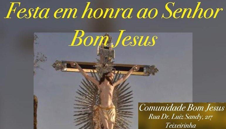 Inicia nesta sexta-feira o Tríduo de Bom Jesus; venha prestigiar essa grande festa!