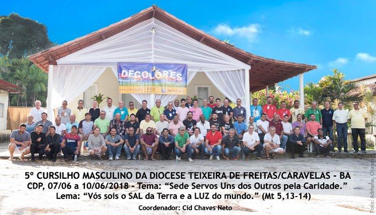 5º Cursilho masculino da Diocese de Teixeira de Freitas; o evento aconteceu no Centro Diocesano
