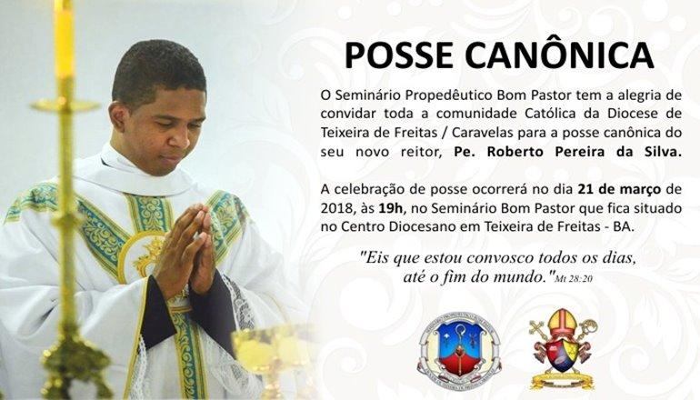 Posse Canônica de Padre Roberto como Reitor do Seminário Propedêutico será dia 21