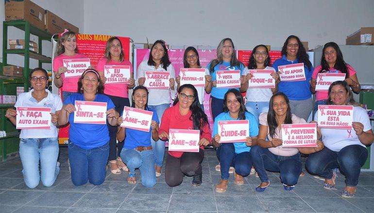 Alcobaça chama atenção para a campanha do Outubro Rosa no ritmo da Pisadinha