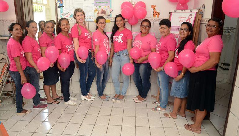 Outubro Rosa: Unidade de Saúde Teixeirinha promove atividades de conscientização e prevenção em Teixeira de Freitas