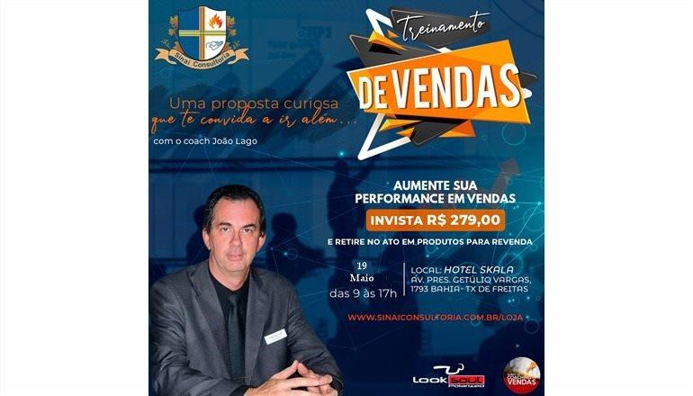 Dê um up em sua Vida: Teixeira sediará o Treinamento de Vendas com o coach João Lago; evento foi adiado para maio