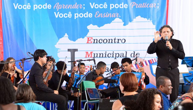 Sua Escola é Uma Orquestra dá o Tom no Encontro Municipal de Educação