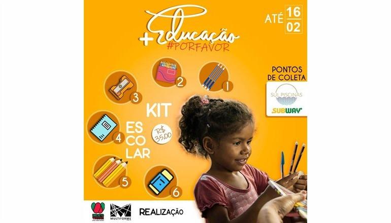 """Projeto Amar e Instituto Multiforme lançam a campanha """"+educação"""""""