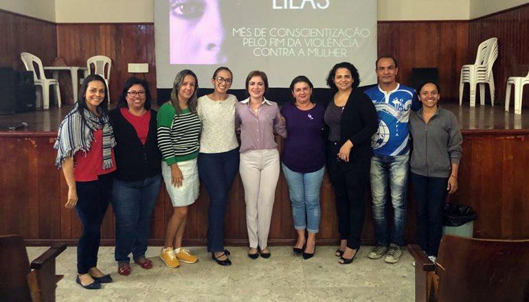 Agosto Lilás: DEAM participa de evento promovido pelo COMDIM em Teixeira de Freitas; alunos e professores de 03 escolas estiveram presentes