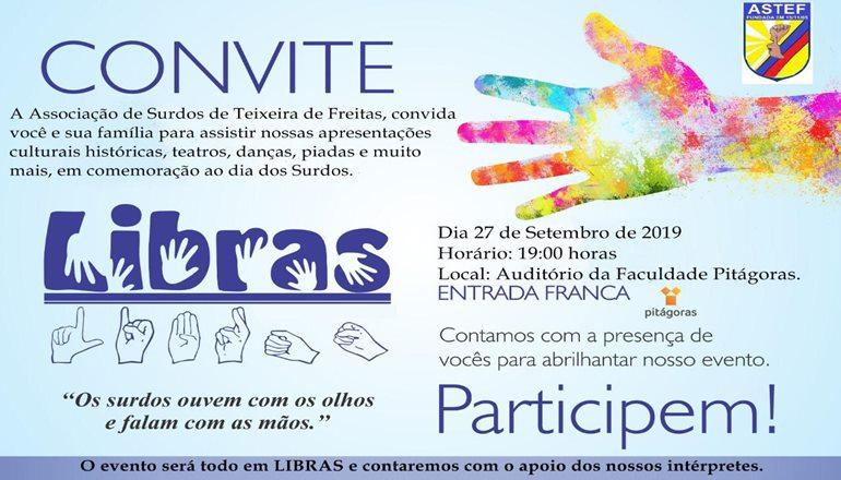 Primeira vez em Teixeira: Associação dos Surdos convida a todos para prestigiar lindas apresentações; o evento será todo em Libras