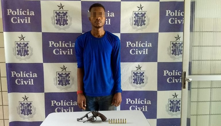 Em menos de 24h, Polícia Civil prende um dos autores do homicídio ocorrido no bairro Irmã Dulce, em Teixeira de Freitas