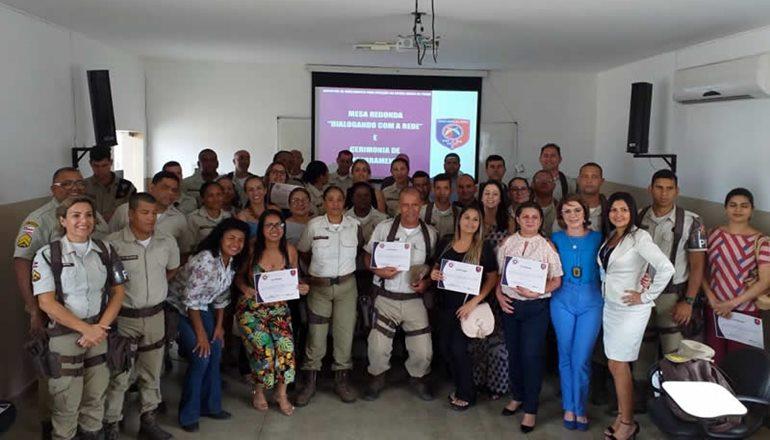 PM outorga policiais capacitados para Ronda Maria da Penha em Teixeira de Freitas