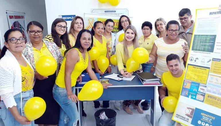 ESF do bairro Teixeirinha realiza evento em conscientização ao Julho Amarelo