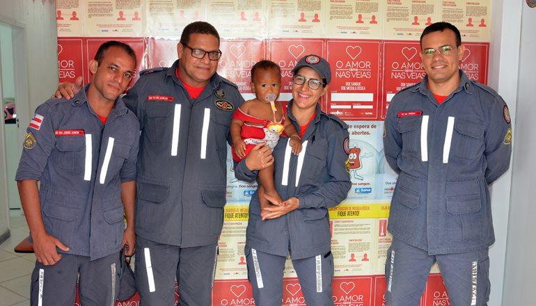 18º GBM promove doação de sangue no Hemoba; inúmeros Bombeiros Militares compareceram