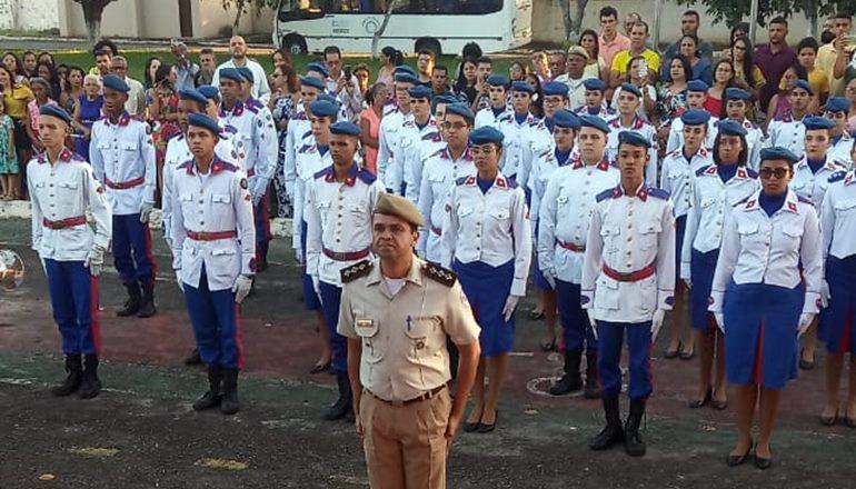 O Colégio da Polícia Militar desponta com as melhores notas do Enem da rede pública de Teixeira