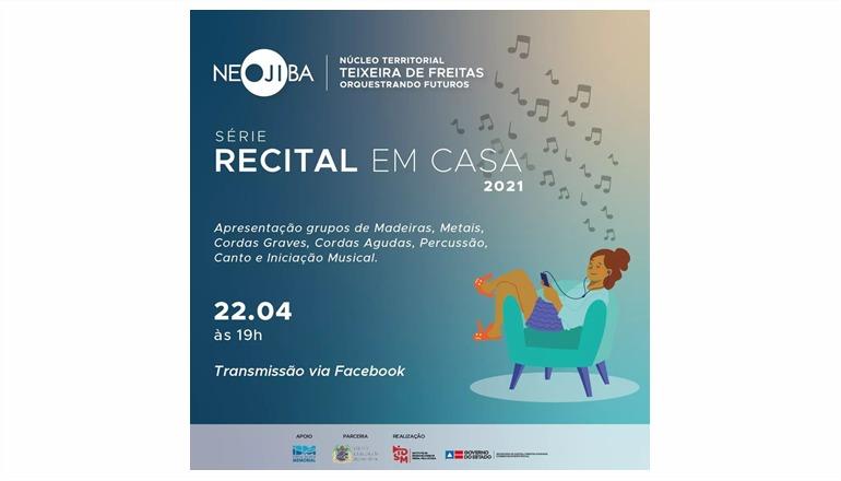 On-line: Prestigie hoje o 1º Recital em casa de 2021 do Orquestrando Futuros