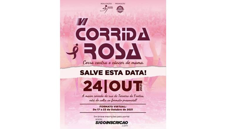 Prefeitura apoia a realização da 6ª Corrida Rosa neste domingo (24)