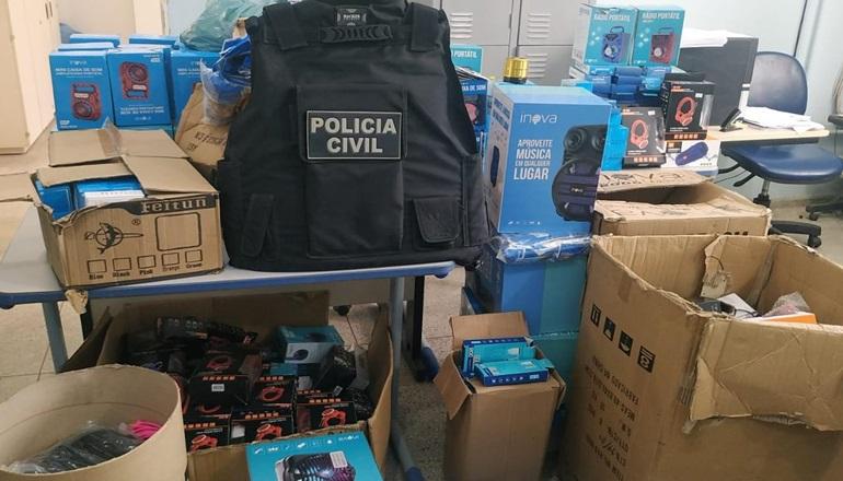 Polícia Civil da 8ª COORPIN recupera mercadoria roubada e prende receptador que vendia produtos na internet