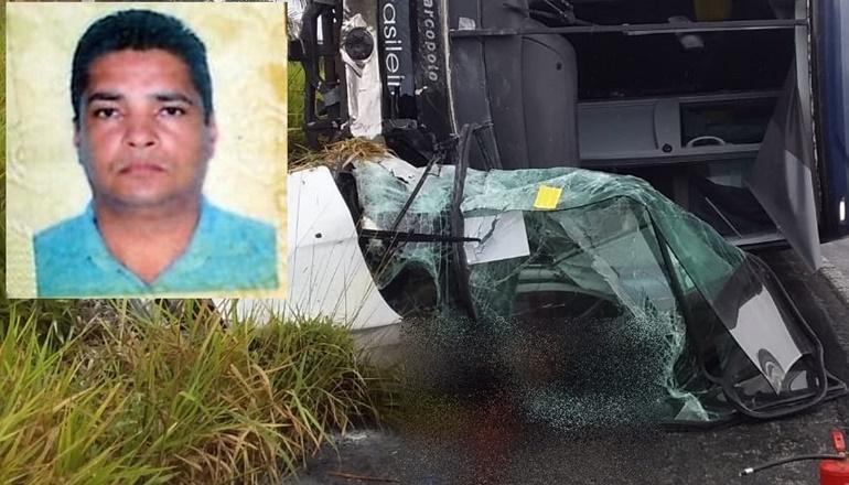 Câmeras de ônibus mostram momento do acidente que matou gerente de empresa de segurança na BR 101