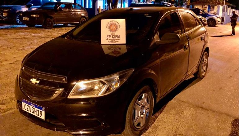 PM recupera veículo em Teixeira de Freitas que havia sido roubado em Itagimirim