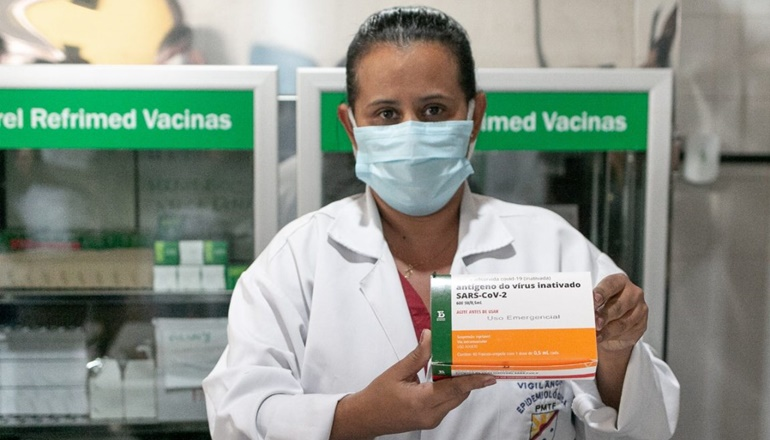 Prefeitura de Teixeira de Freitas recebeu 1.800 doses da Vacina CoronaVac