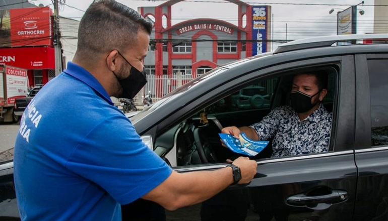 Conscientização: município realiza Blitz Educativa contra a Covid-19 em Teixeira de Freitas