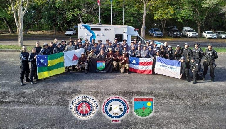 Em busca de melhorar o quadro de profissionais, a CAEMA realizou a formatura de vários policiais militares e agentes penitenciários; cerca de 180 profissionais capacitados