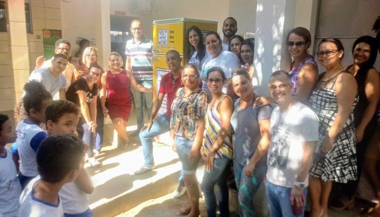 Escola São Lourenço recebeu mais uma sessão de filme com o projeto Cineclube Sal na Pipoca