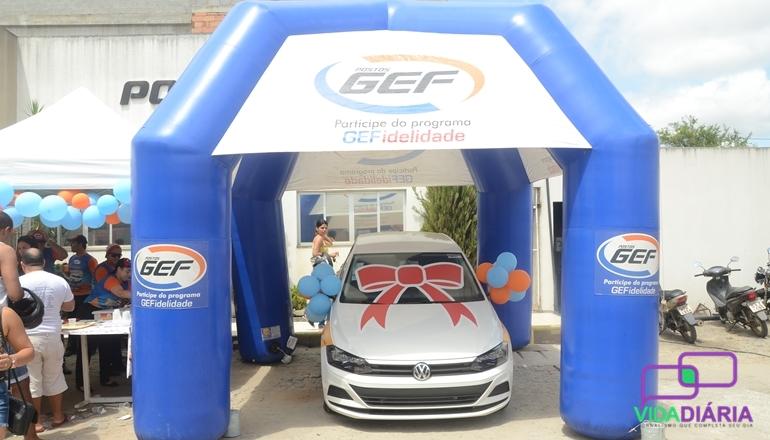 """É festa no Posto GEF! Foi realizado o 2º sorteio da campanha """"Abasteça a sua sorte"""" na manhã deste sábado"""