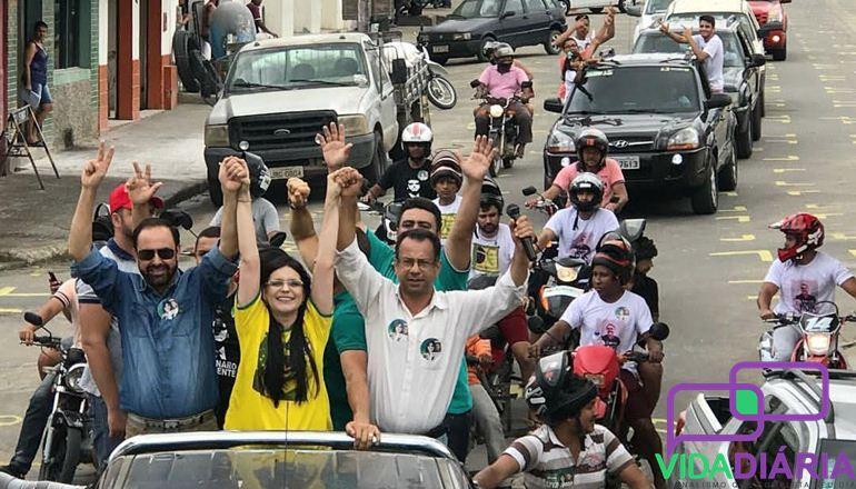 Candidato a Deputado Estadual Gonzaga do partido de Bolsonaro apresenta Dayane Pimentel para a região